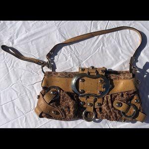 leopard print Guess handbag clutch
